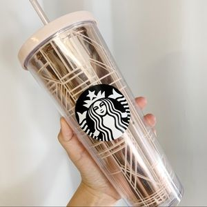 Starbucks holiday Merch rose gold tumbler 24oz